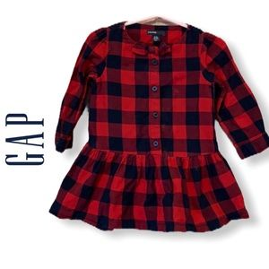 Baby Gap Buffalo Check Drop Waist Dress